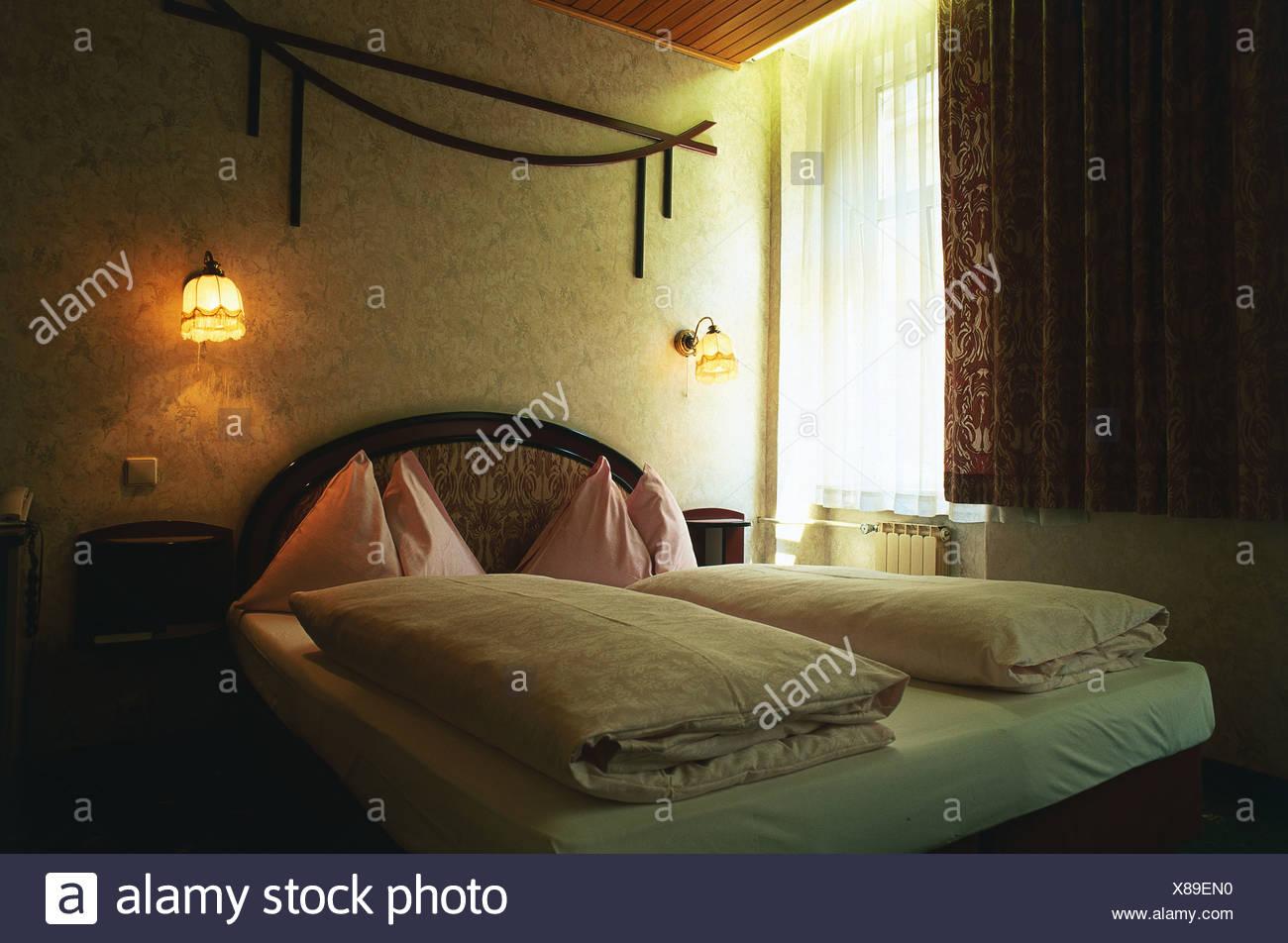 Österreich, Wien, Hafnersteig 7, Christina, Bettdecken auf ...