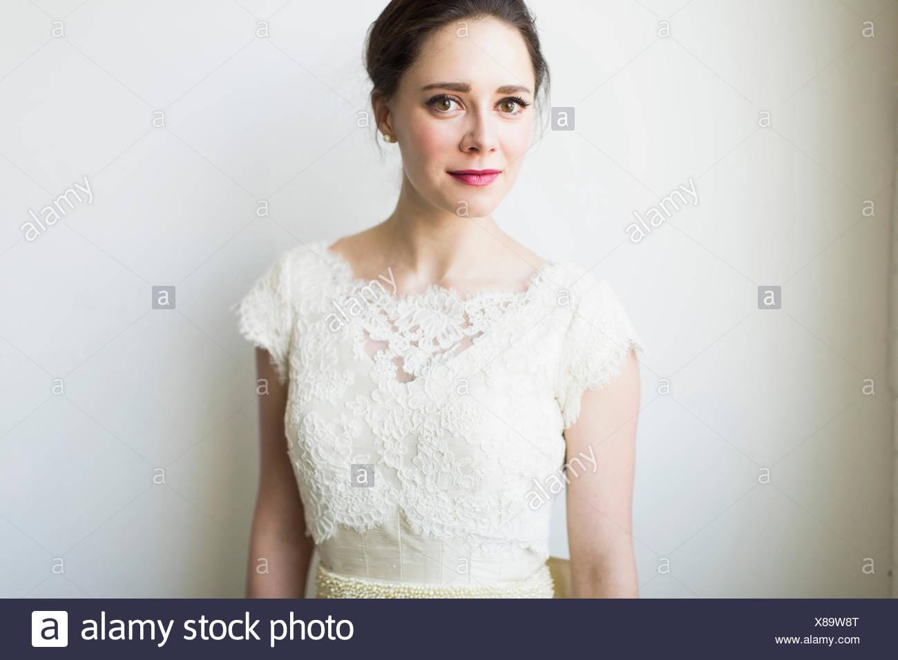 Studio-Porträt der Braut Stockbild
