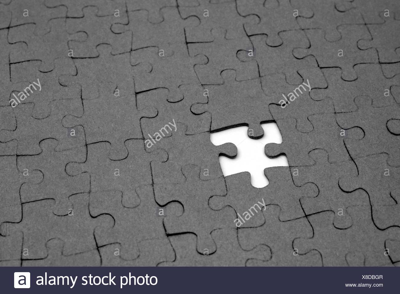 Ein Leerzeichen Wird In Der Machen Der Gesamten Anlage Eines Puzzles  Gesehen. Stockbild