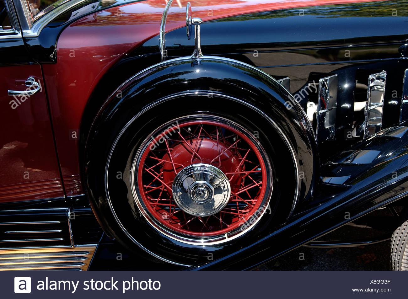 Classic Car Close Up Wheel Stockfotos & Classic Car Close Up Wheel ...