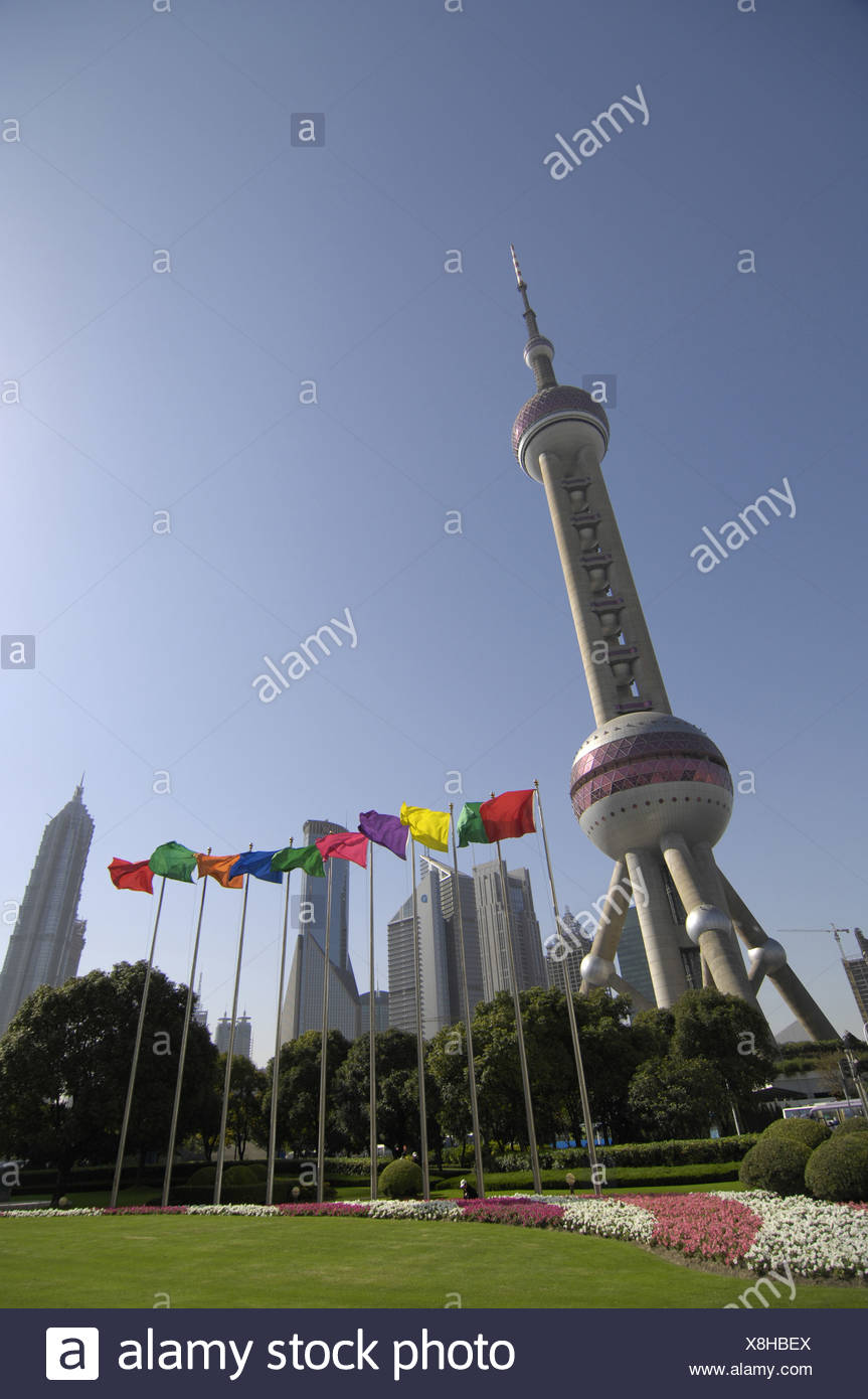 China Asien Shanghai Pudong Oriental Pearl Tower Tower Turm
