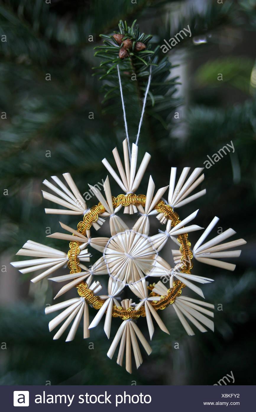 Tanne Baum Stimmung Dekoration Stroh Yule Weihnachten