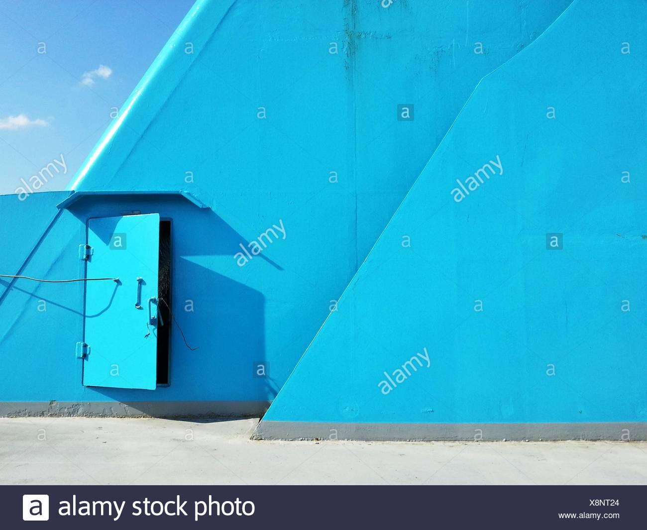 Blauen Deck an Bord des Schiffs Stockbild