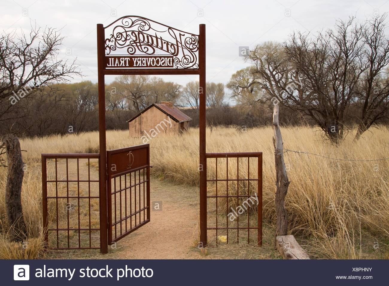 Heritage Discovery Trail Gateway, Las Cienegas National Conservation Area, Arizona. Stockbild