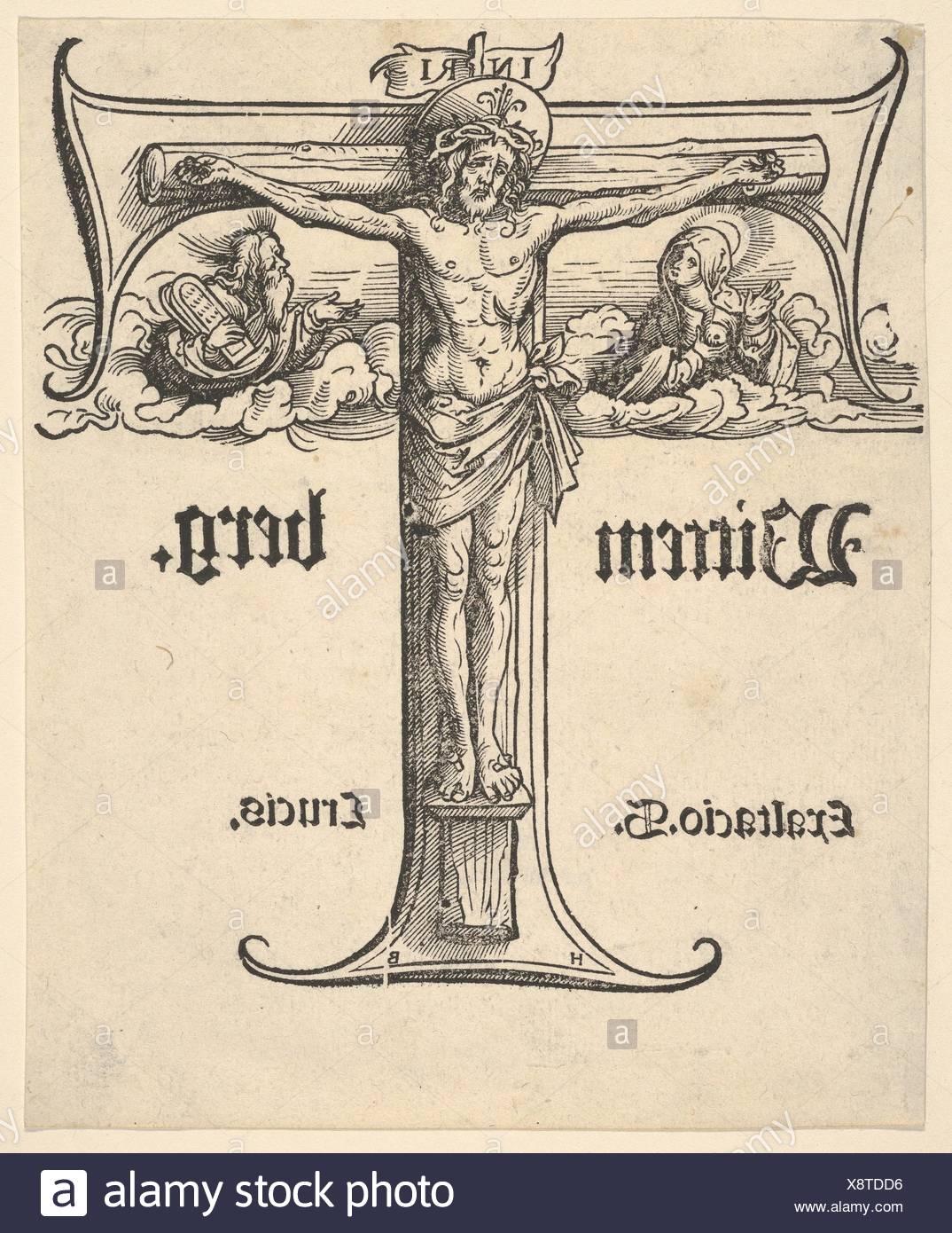 Künstler Augsburg christus am kreuz zwischen der jungfrau und moses künstler hans