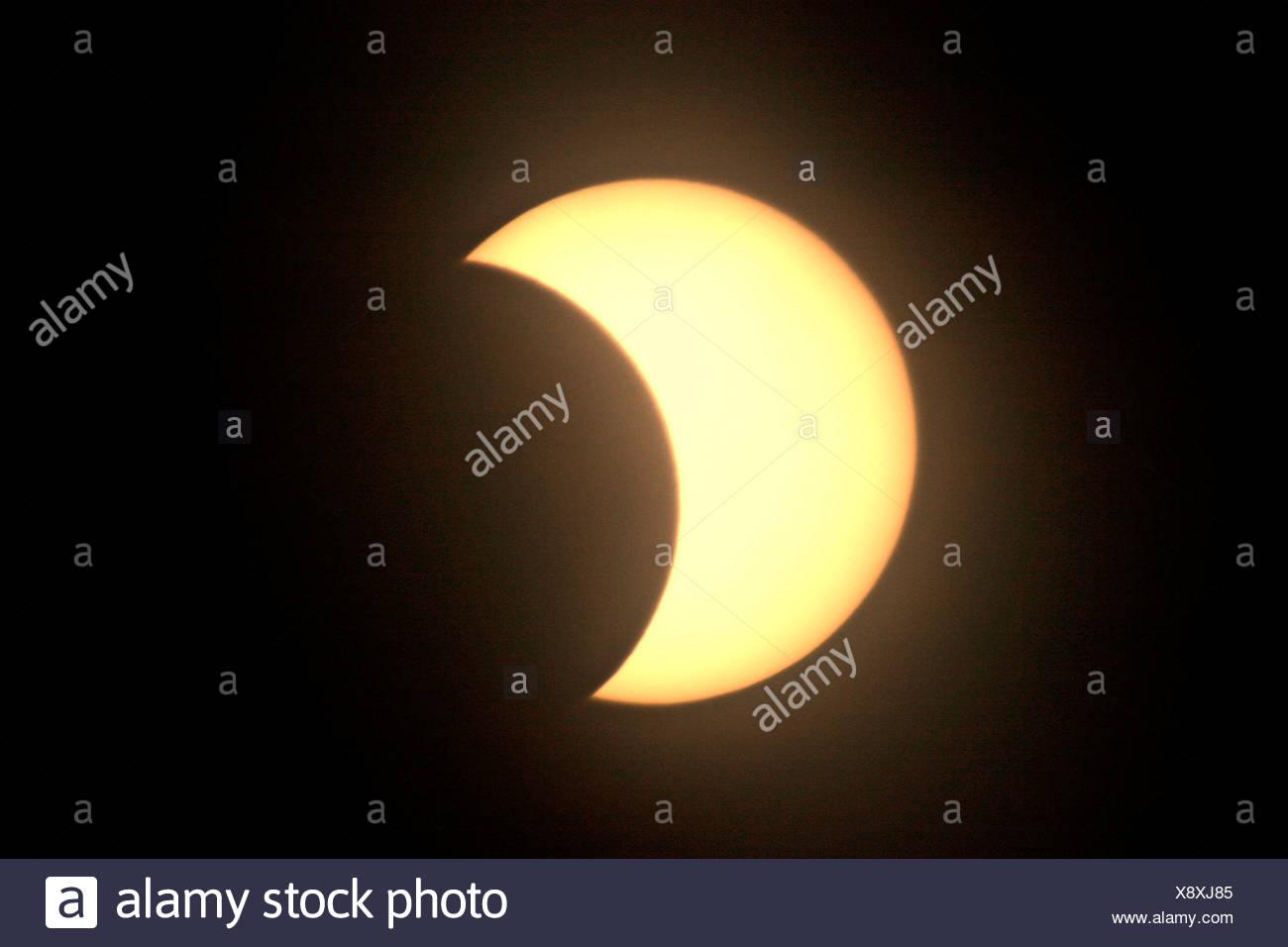 Partielle Sonnenfinsternis Partielle Stockbild