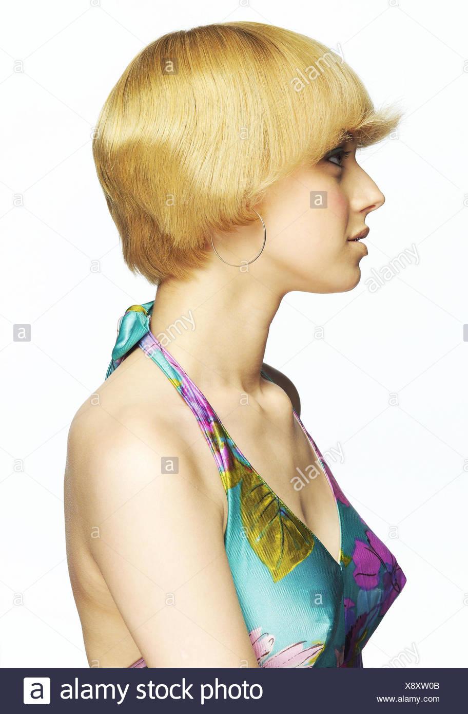 Frau Jung Blond Seite Porträt Frauen Porträt 20 30