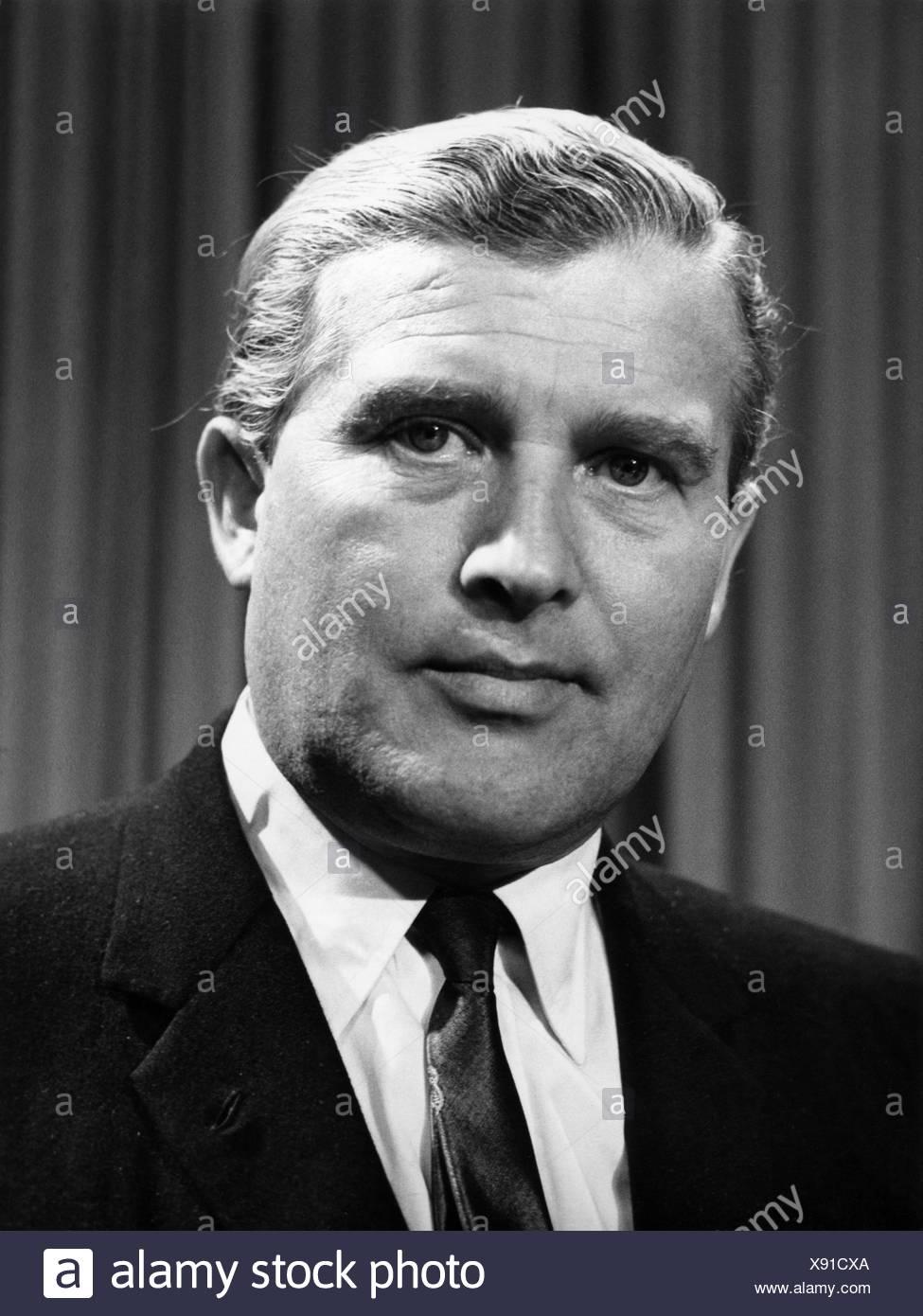 Braun, Wernher von, 23.3.1912 - 16.6.1977, US-amerikanischer Physiker deutscher Herkunft, Porträt, 1968, Stockfoto