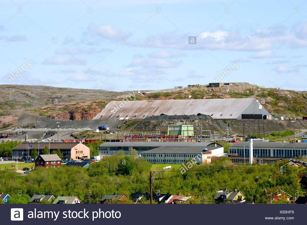 Eisenerz Abrichten Anlage, Kirkenes, Norwegen, Skandinavien, Europa Stockbild
