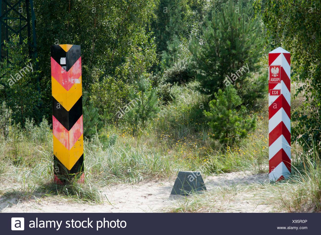 Grenze Beitrage Am Grenzubergang Zwischen Deutschland Und Polen