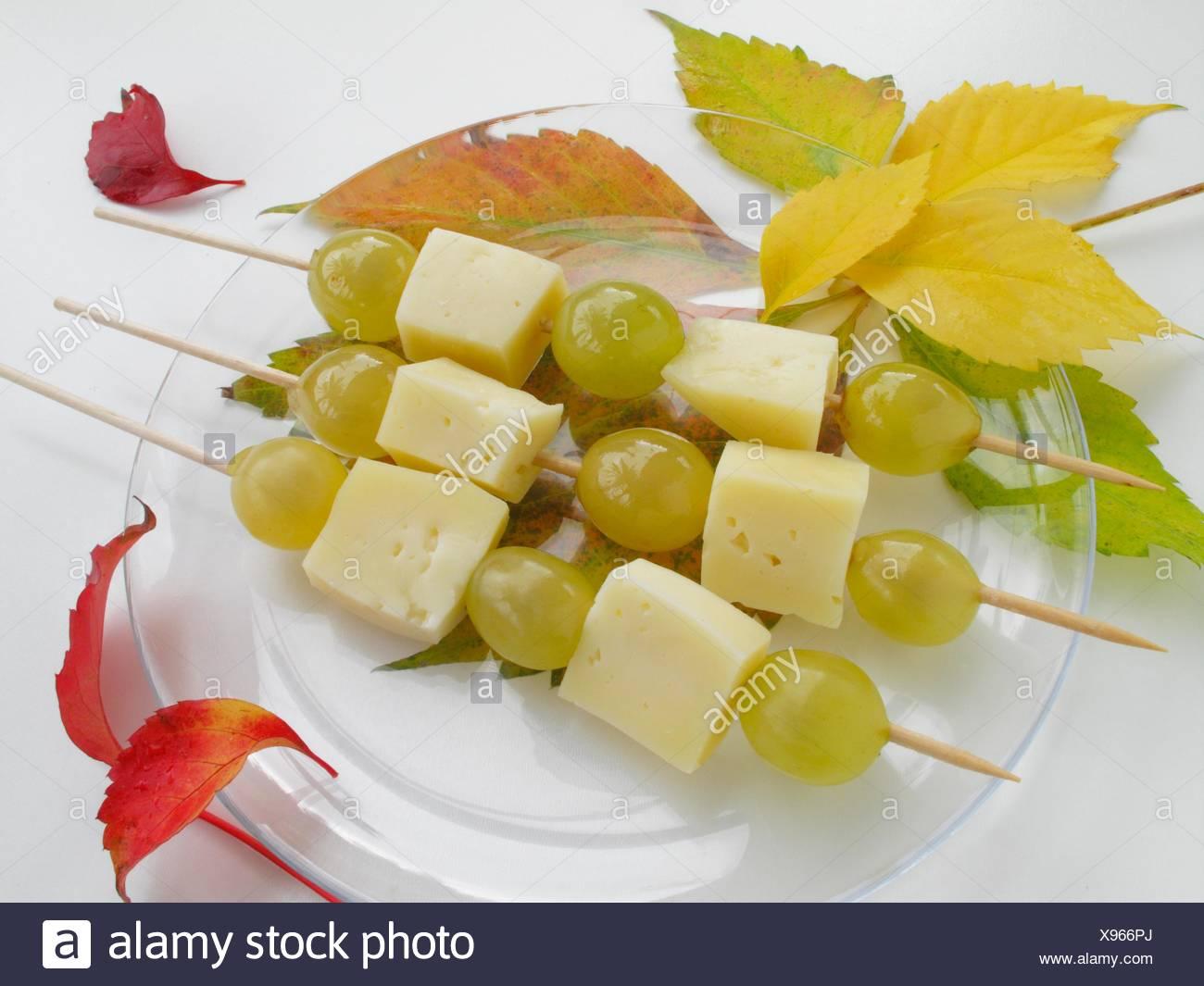 Spieße trauben käse Käsespieße mit