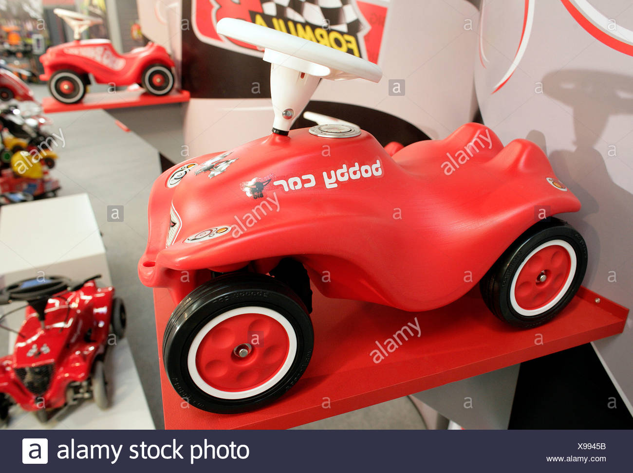 Das legendäre Bobby-Car von Big Spielwarenfabrik in Nürnberg International Toy Fair 2006 in Nürnberg, Bayern, Deutschland, Eu Stockbild