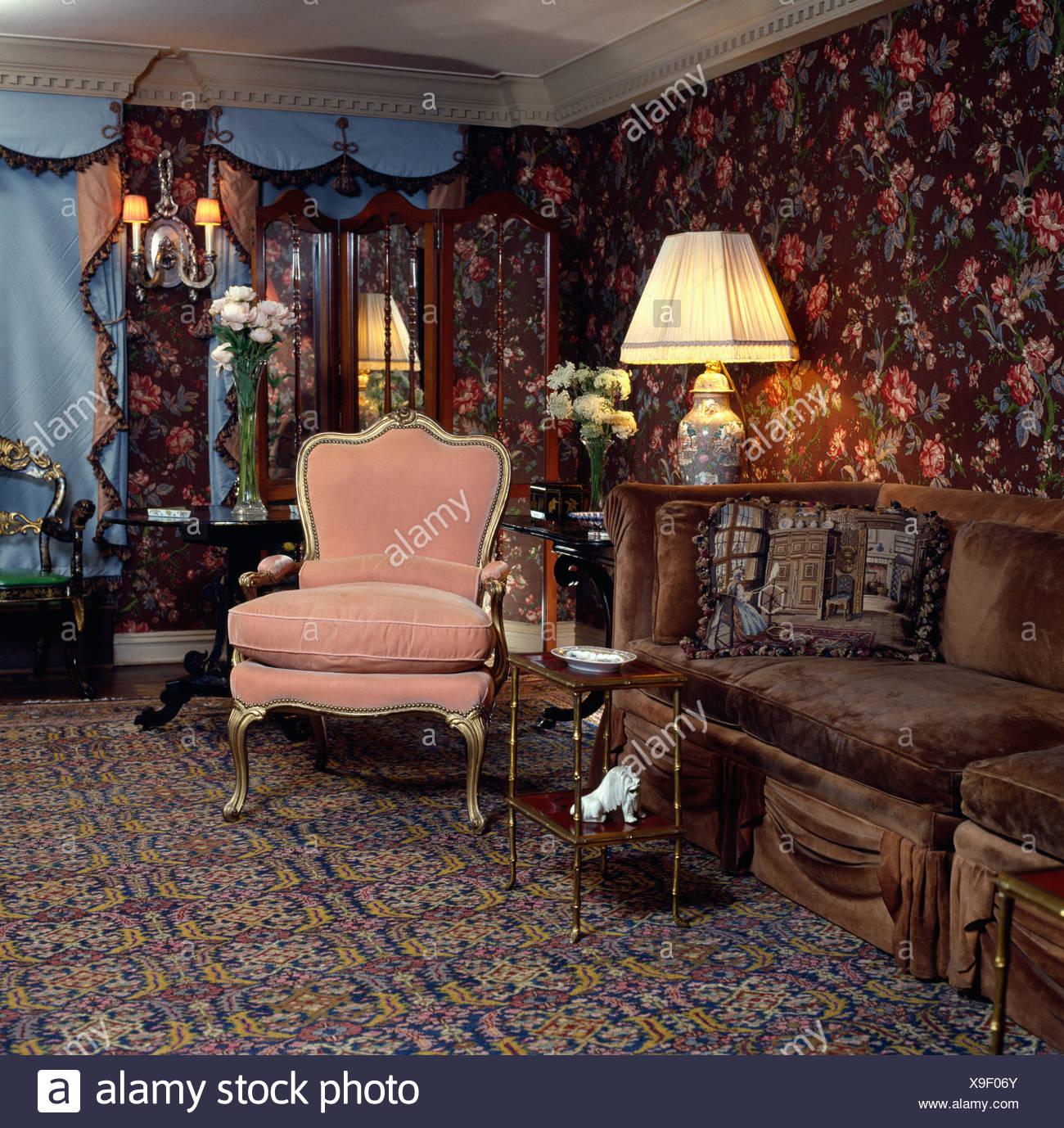 Stunning Wohnzimmer Braun Rosa Pictures - Farbideen fürs Wohnzimmer ...
