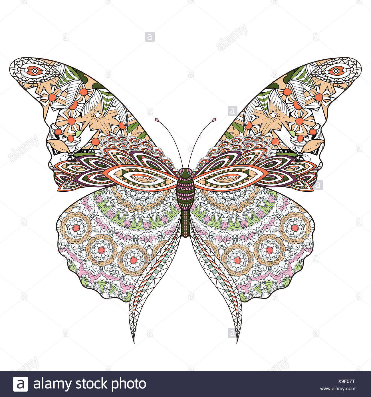 Flower Insect Doodle Art Stockfotos & Flower Insect Doodle Art ...