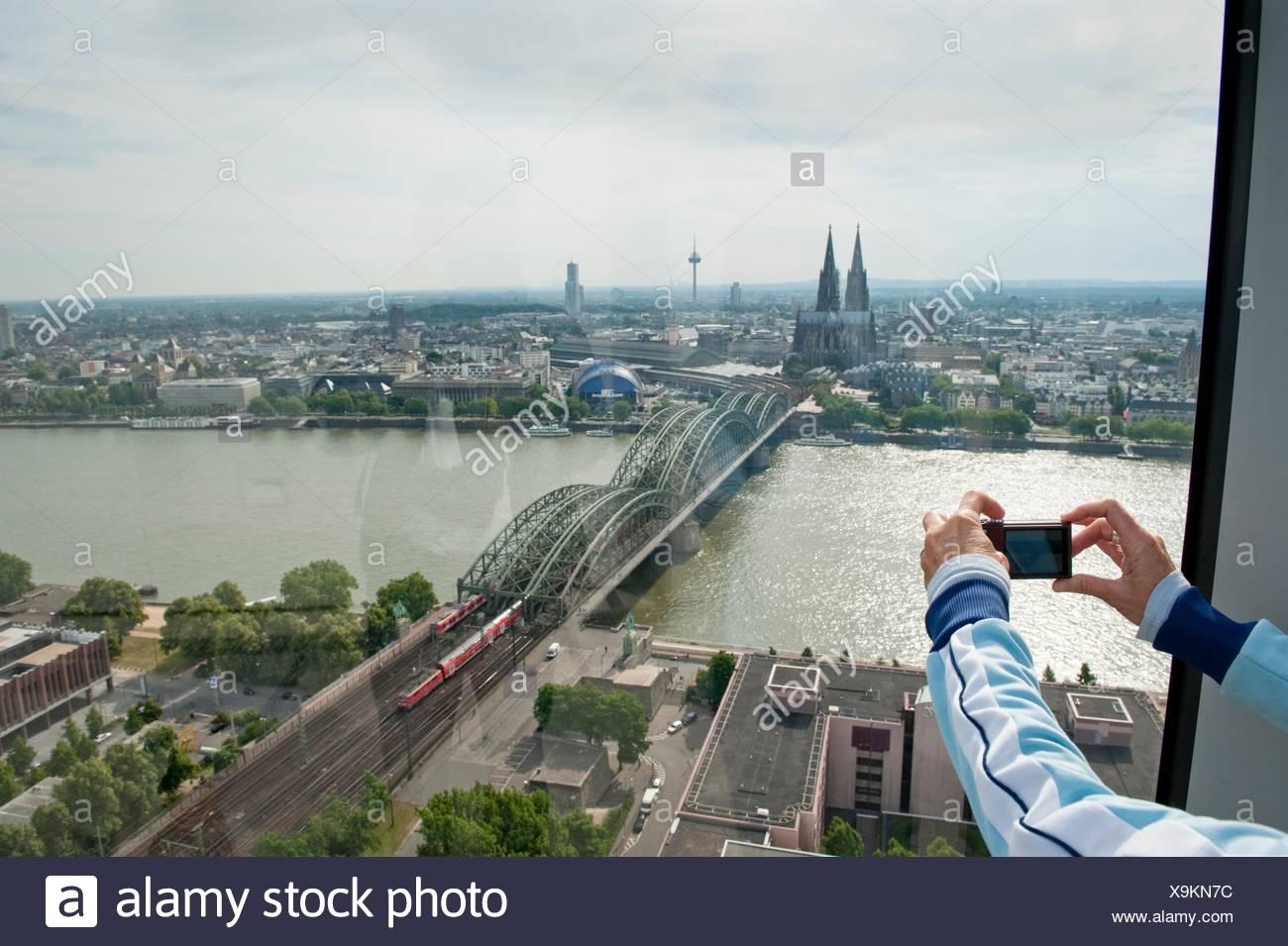 person fotografieren koln von oben north rhine westphalia germany