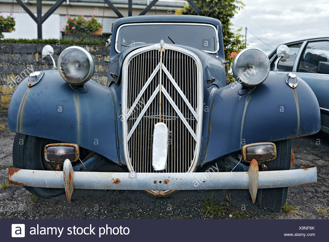 Oldtimer, Citroen-Traction-Avant in Wochern, Saarland, Deutschland, Europa Stockbild