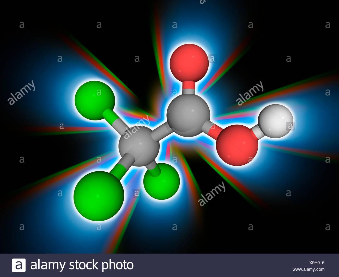 Trichloressigsäure Säure Molekülmodell Der Chemischen