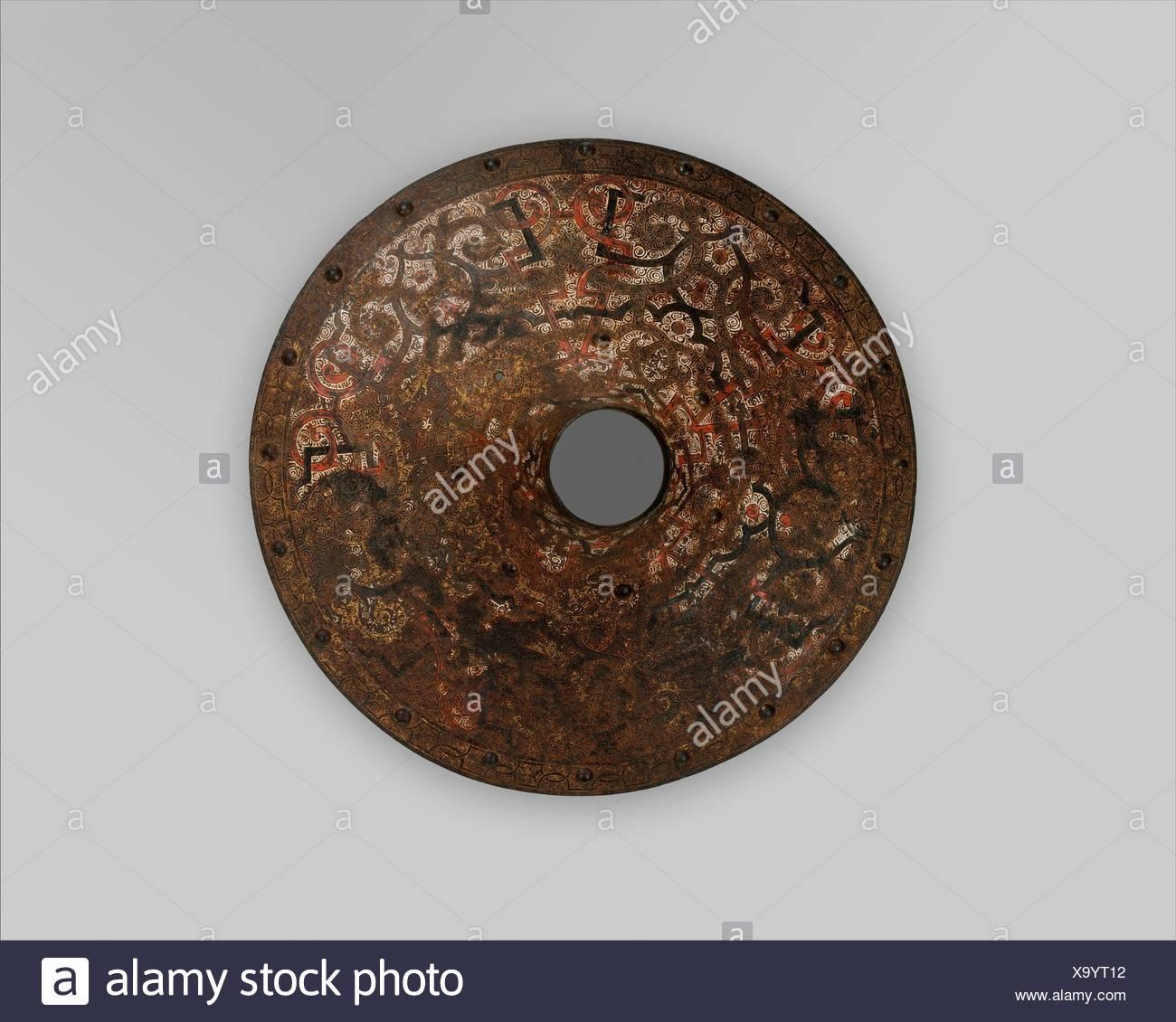 Vamplate Zugehörigkeit zu einer Rüstung für Feld und Turnier bildete für Herzog Nikolaus das Schwarze Radziwill (1515-1565), Herzog von Nesvizh und Olyka, Prinz von Stockbild