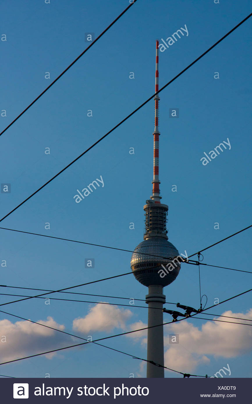 Berlin, Deutschland, Europa, Alexander Platz, Fernsehturm, Fernsehturm, Stockbild