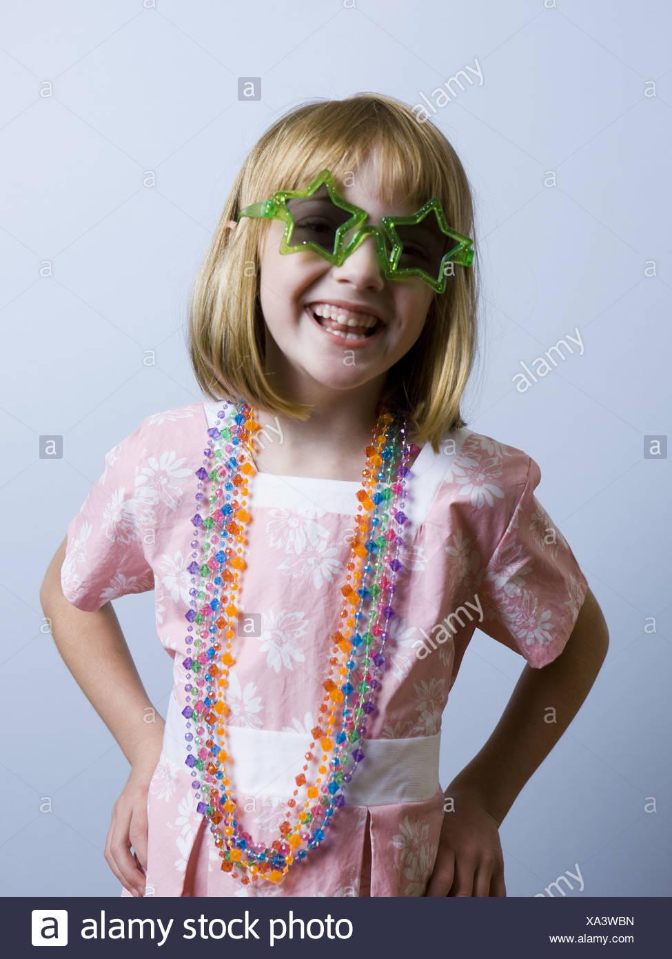 Mädchen Dress up spielen Stockbild