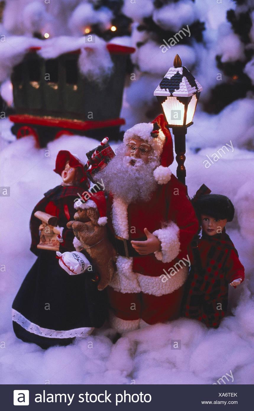 Weihnachts-Dekoration, Spielzeug, Figuren, Weihnachtsmann, Kinder ...