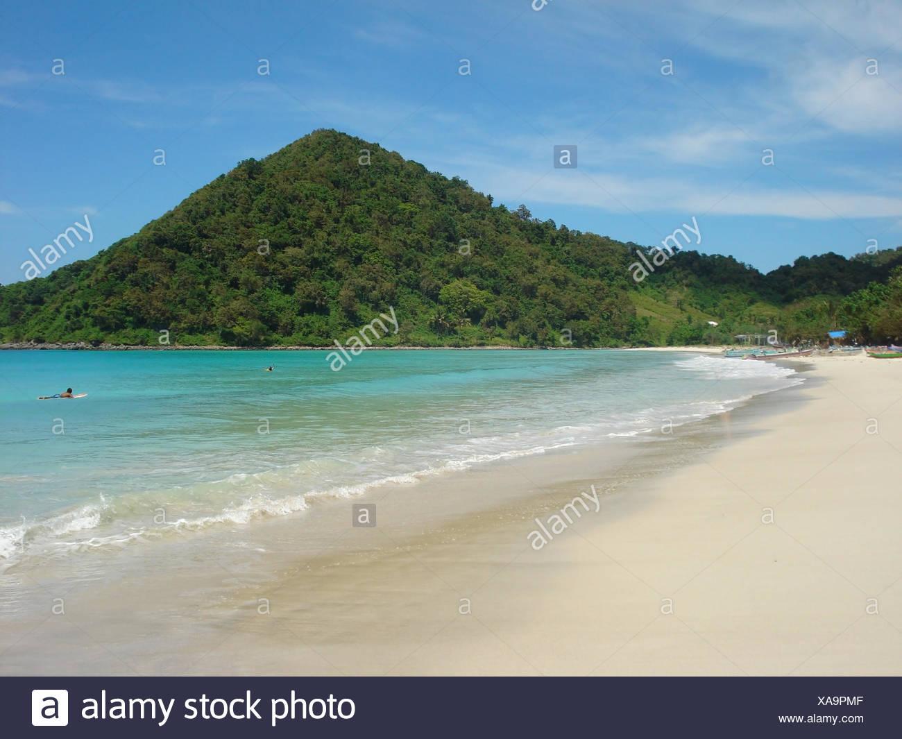 Küste Strand Landschaft auf Bali. eine Insel in Indonesien Stockbild