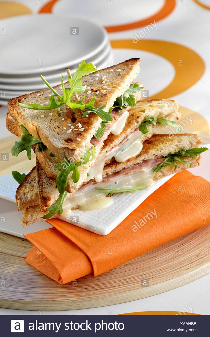 Rocamadour-Club-sandwich Stockbild