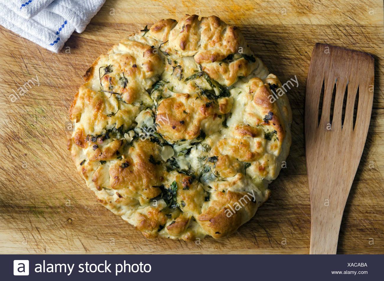 Italienischen Pecorino Provolone, Mozzarella und Brot. Stockbild