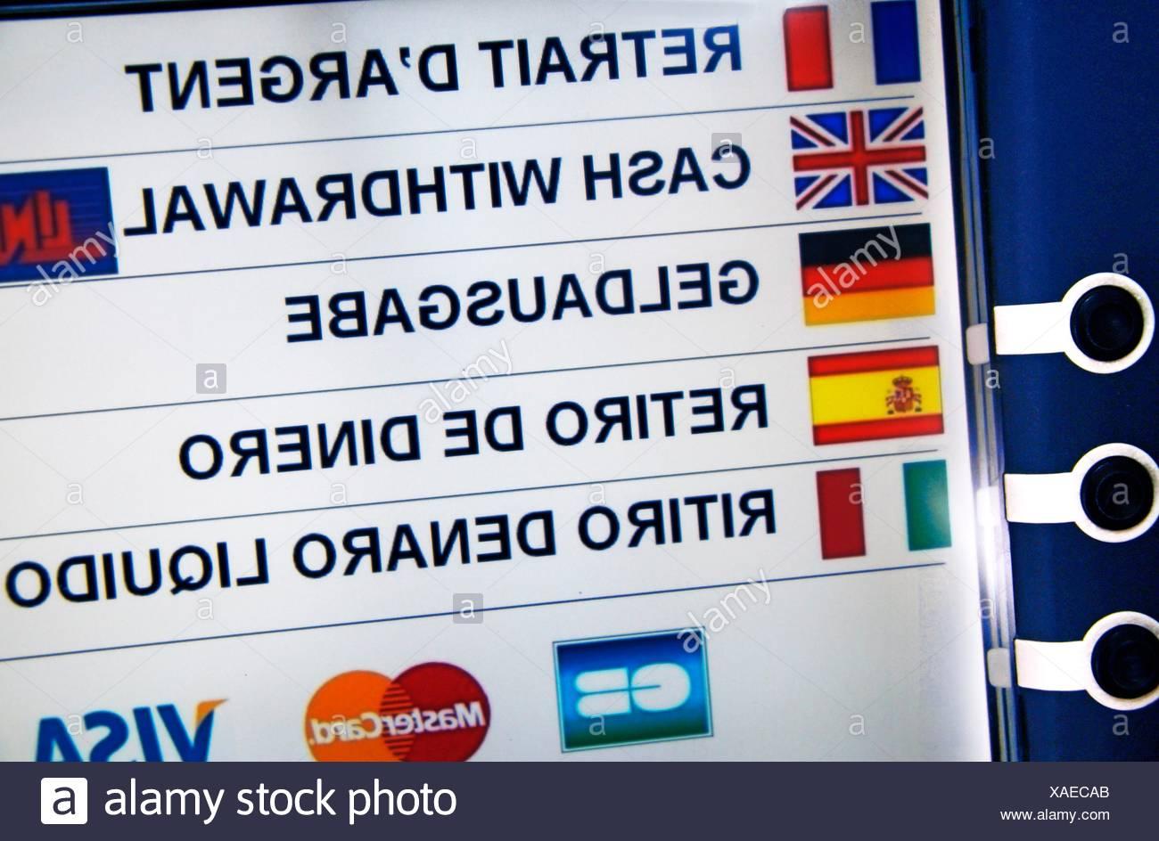 Entfernung banking Stockbild