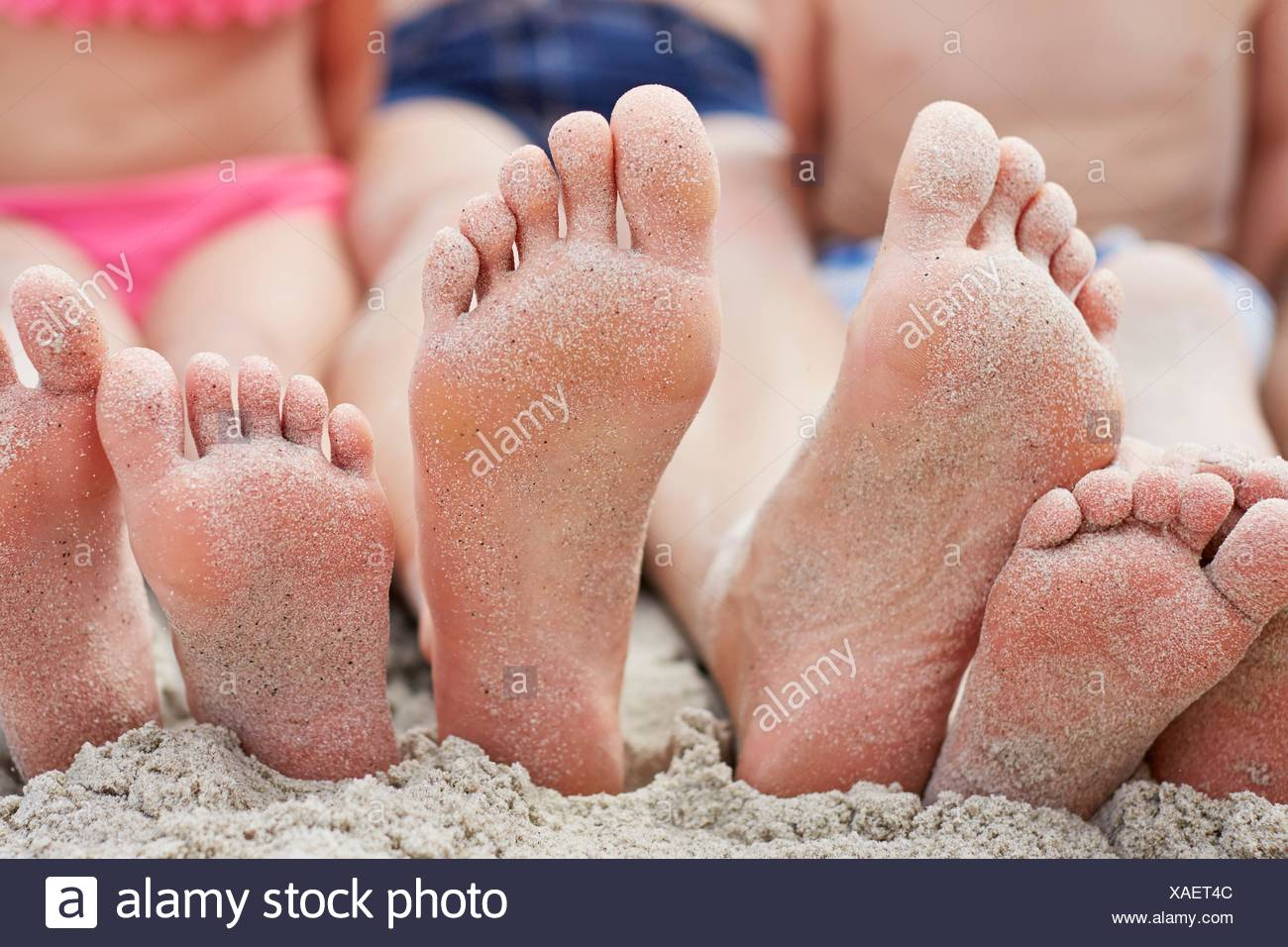 Familie strand nackt Strand Nackt