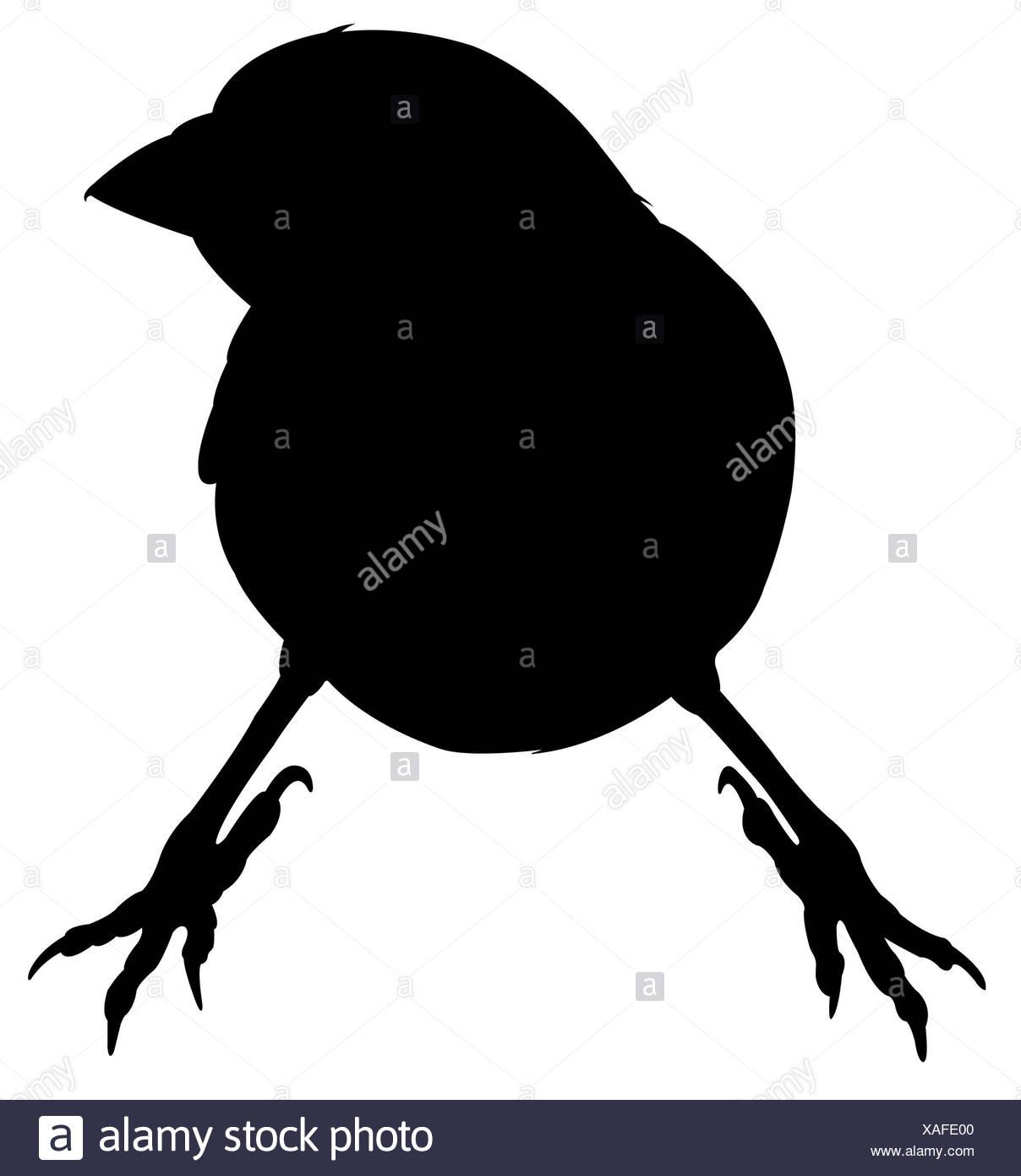 Ein Spatz silhouette Vektor Stockbild