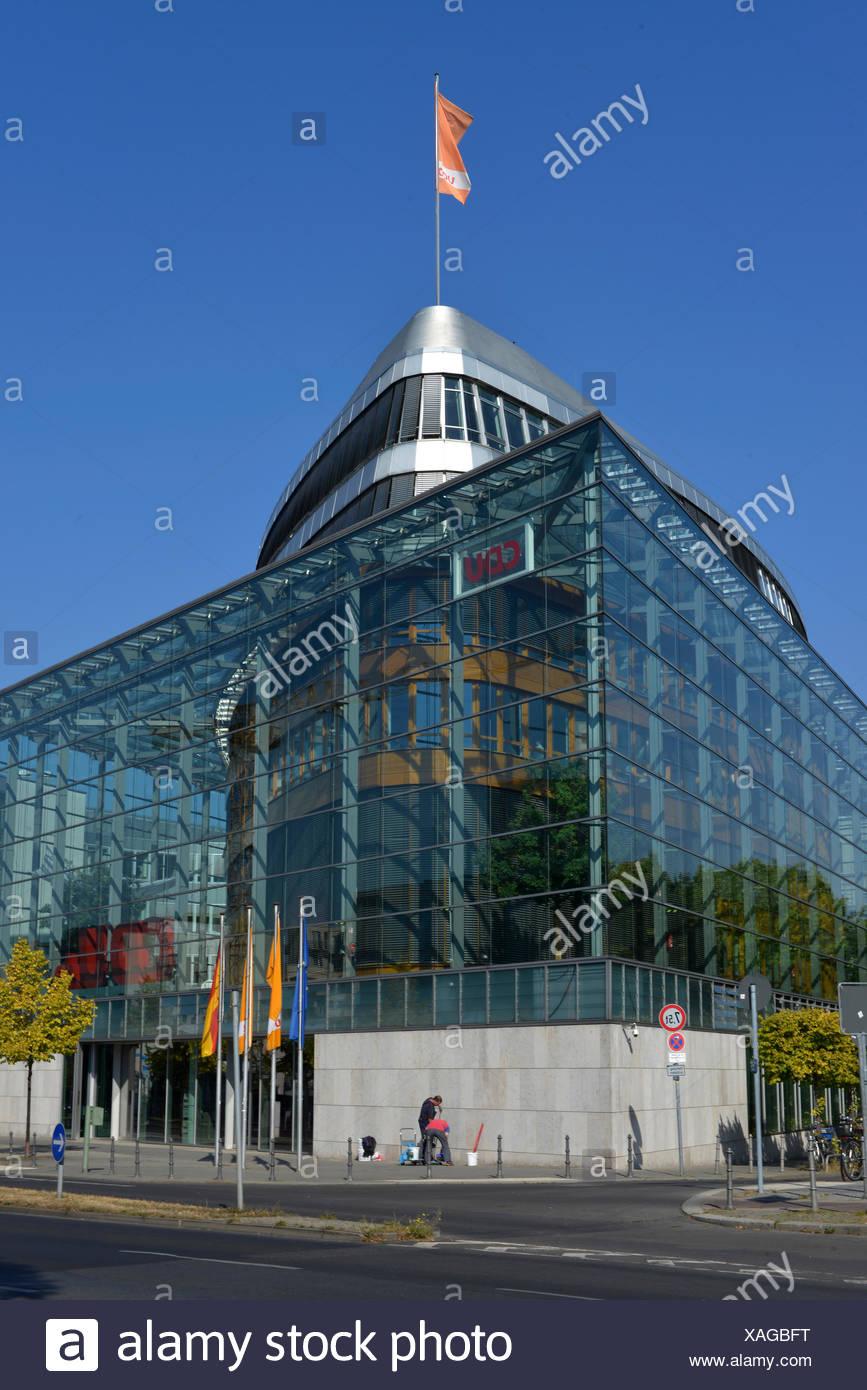 CDU Bundesparteizentrale, Klingelhoeferstrasse, Tiergarten, Berlin, Deutschland, Klingelhöferstrasse Stockbild