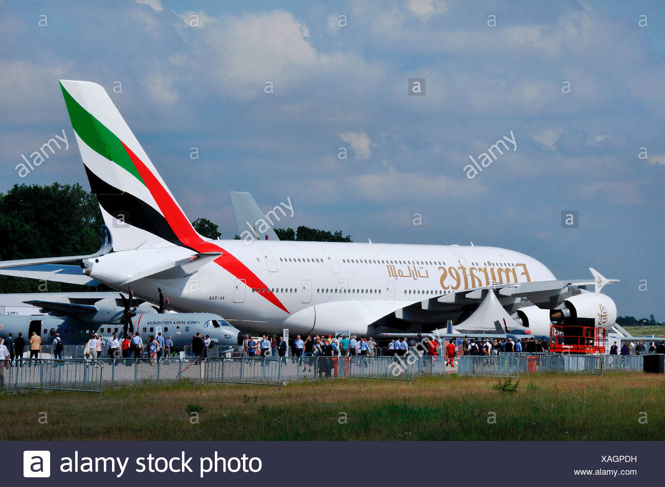 Airbus A380, ILA, Berlin-Schönefeld, Deutschland Stockbild