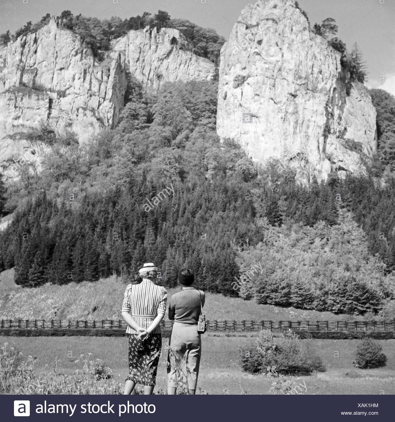 Bei Beuron eine der Oberen Donau, 1930er Jahre Deutschland. In der Nähe von Beuron auf der oberen Donau, Deutschland der 1930er Jahre. Stockbild