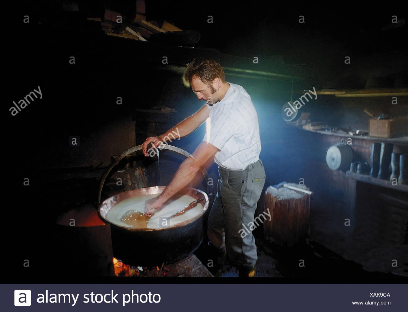 Kamin Essen alm hütte appenzell speisen essen feuer kamin folklore essen