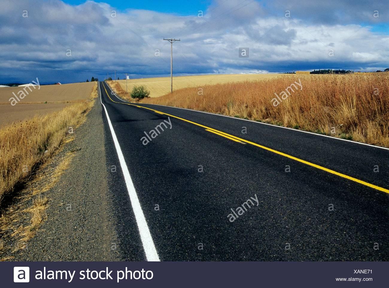 Airlie Road, Polk County Scenic Loop, Oregon. Stockbild