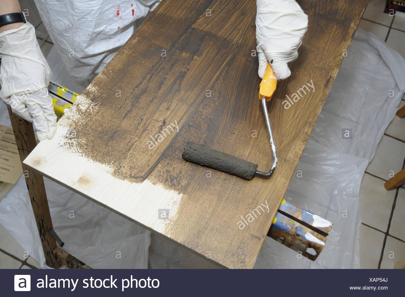 Lasieren Brett Lasur Farbe Mangel Lackieren Streichen