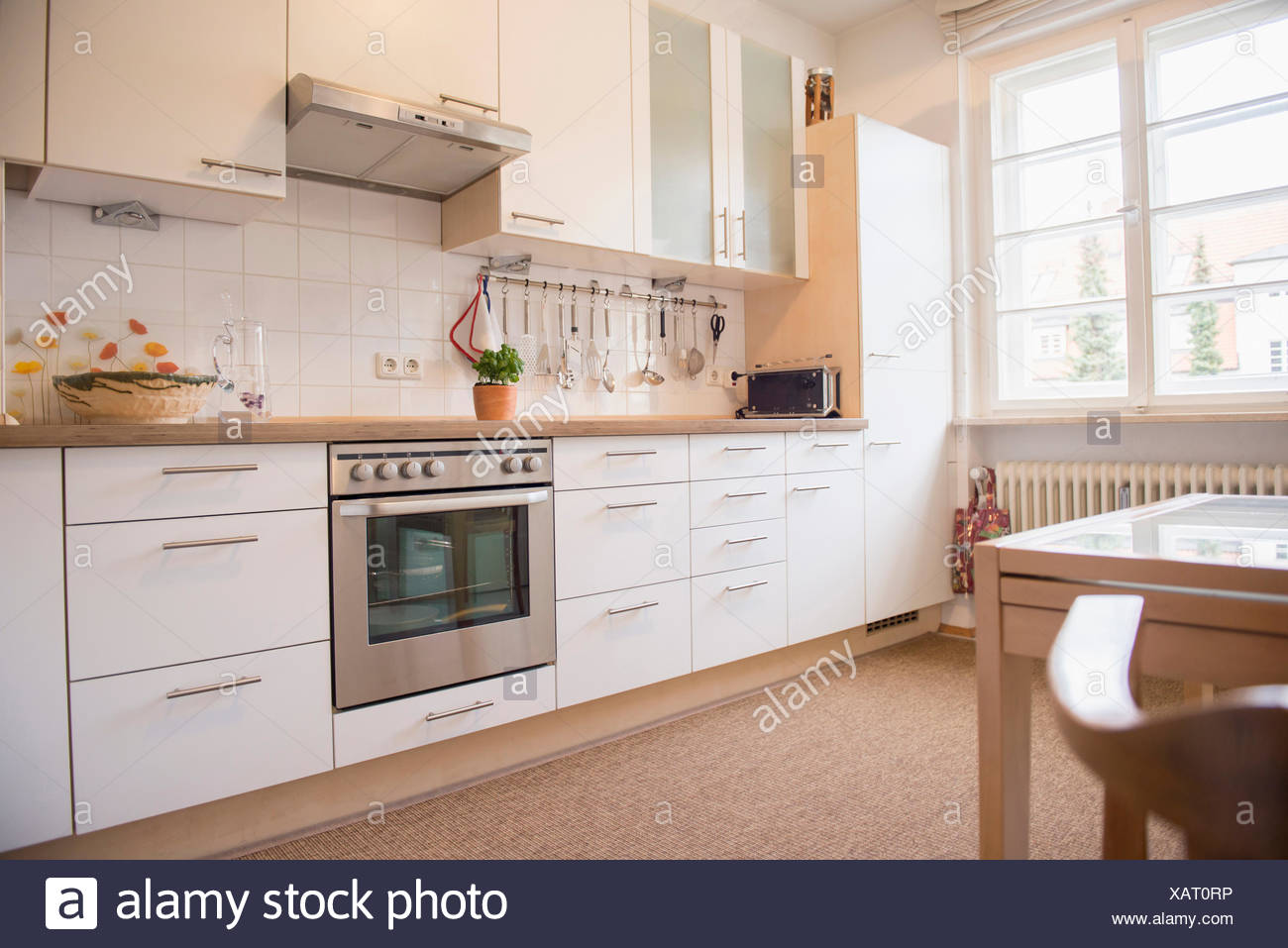 Leere Küche Stockbild