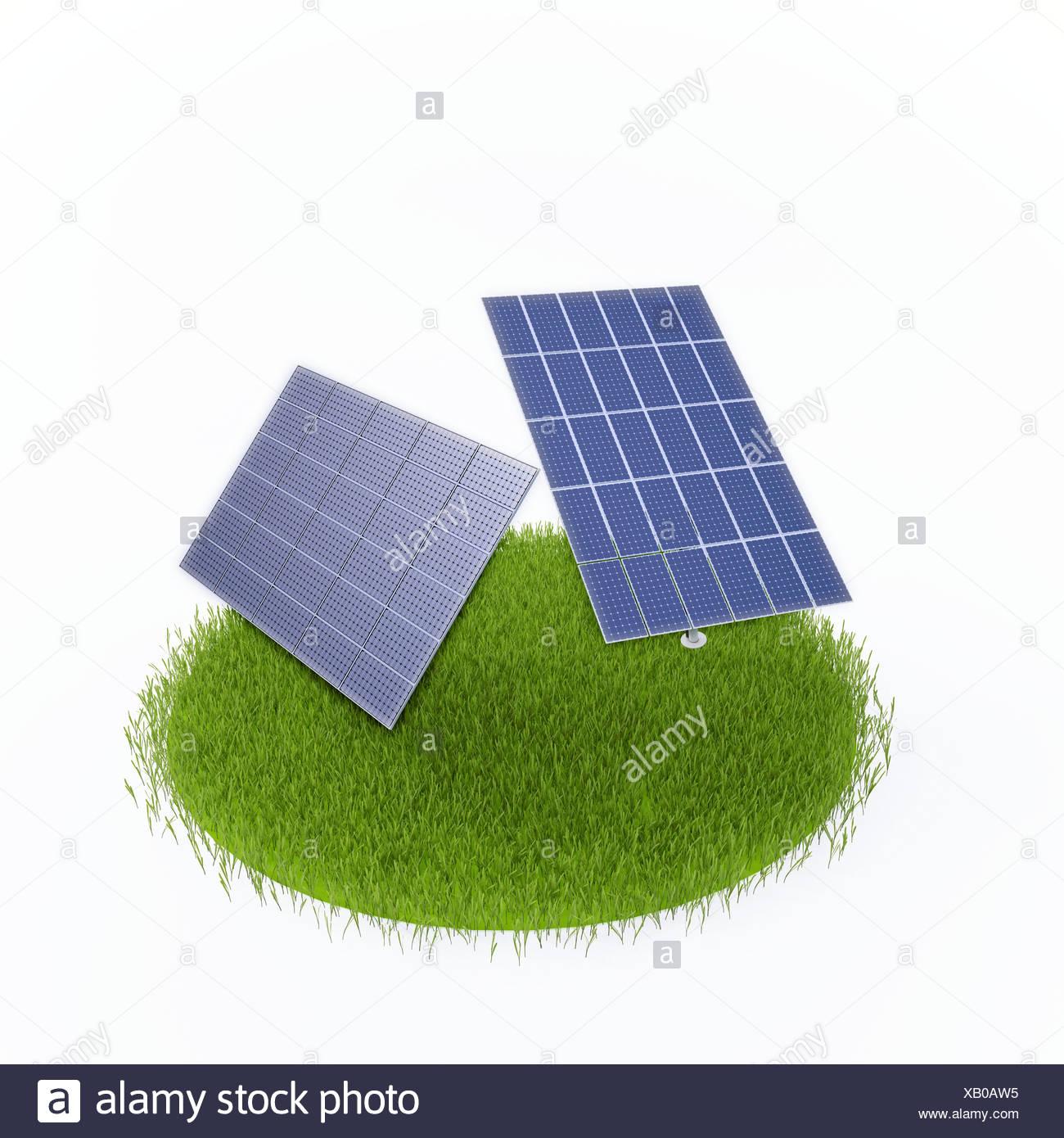 Solarenergie, artwork Stockbild