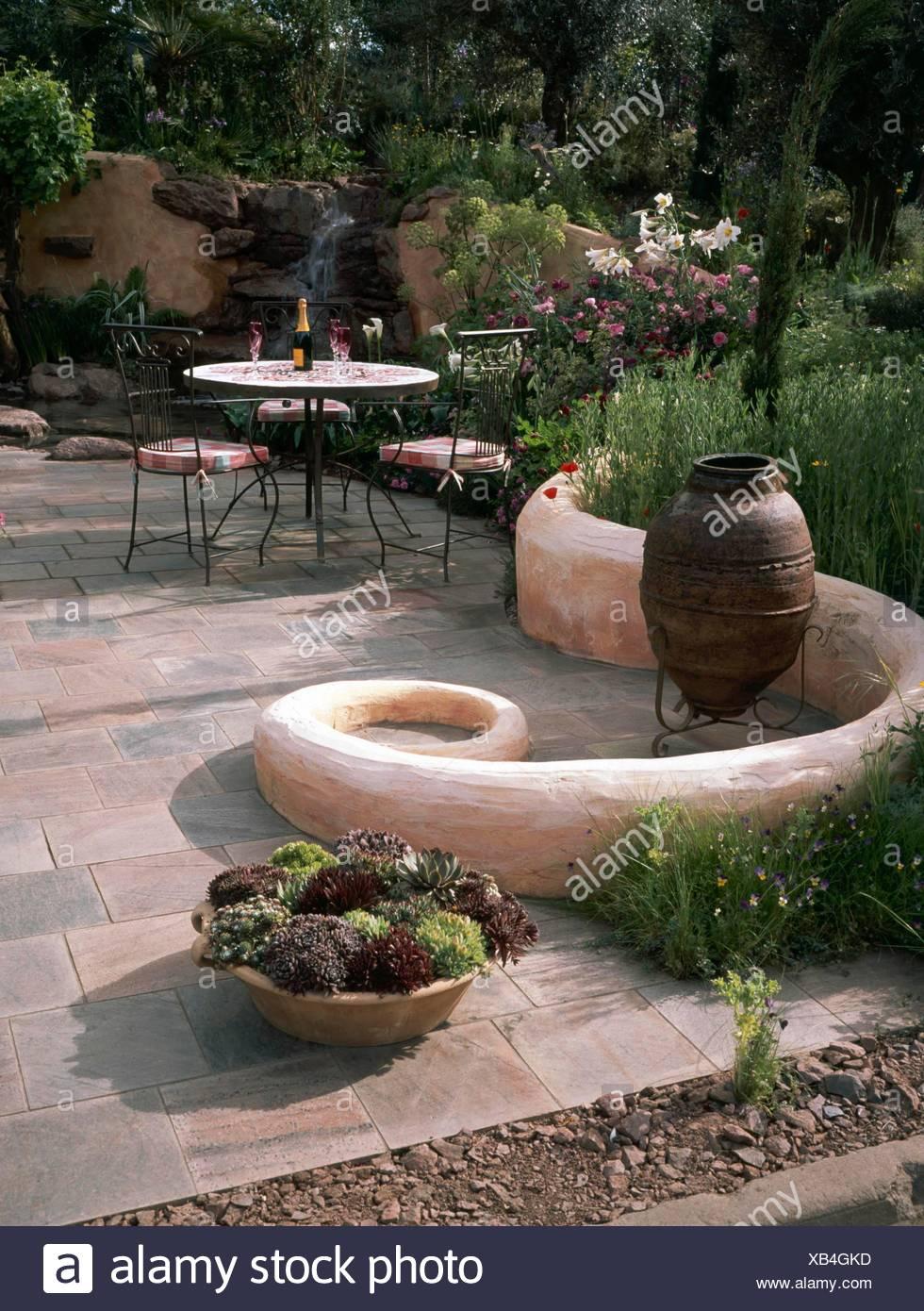 Terrasse Im Mediterranen Stil Garten Bitte Kredit Fotos Hort