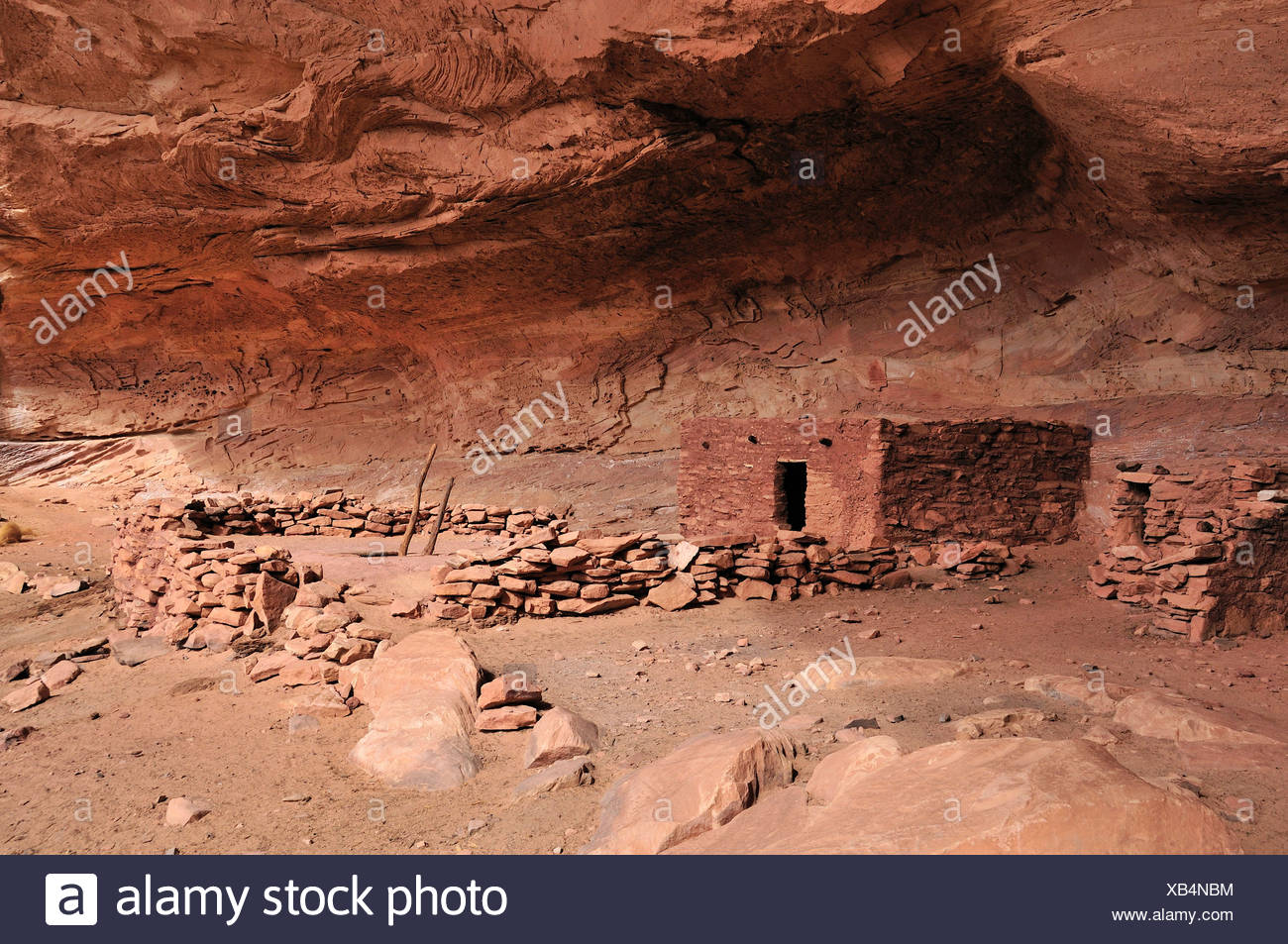 Anasazi, Cliff Dwellings, perfekte Kiva, ruinieren, Bullet Canyon, Grand Gulch primitiven Bereich, Cedar Mesa, Colorado Plateau, Utah, USA Stockbild