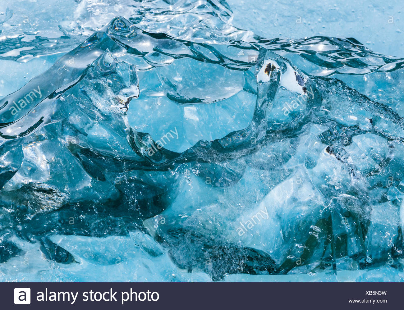 Luftaufnahme von Gletschern Alaskas Küste. Stockfoto