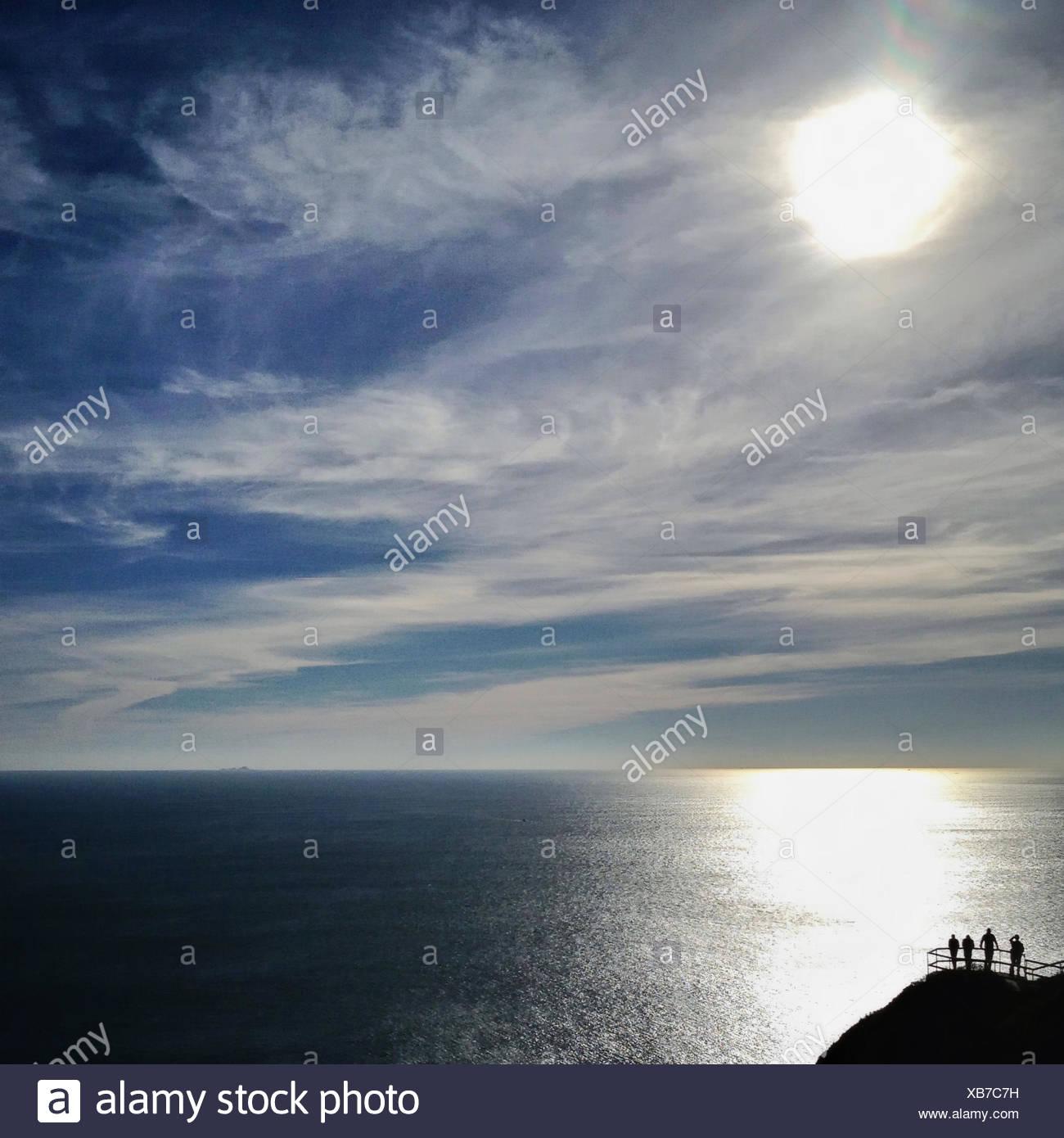 USA, California, Marin County, Muir Beach, Blick auf Pazifischen Ozean Stockbild