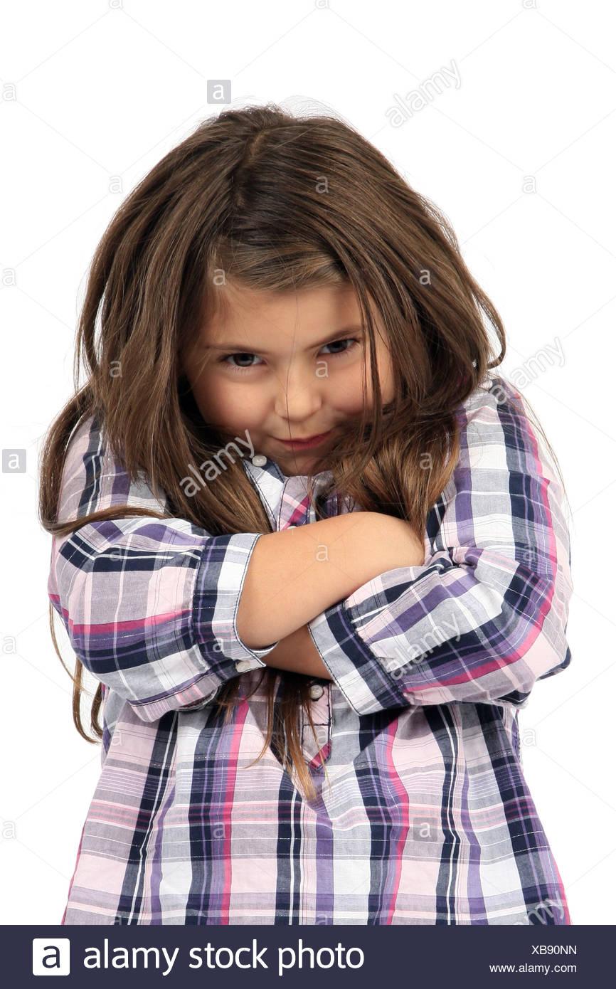 kleines Mädchen ihr Gelenkarme Stockbild