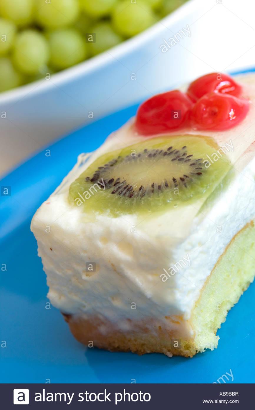 Sahne Torte Schicht Kuchen Cherrytart Fruchtige Kuchen Kuchen