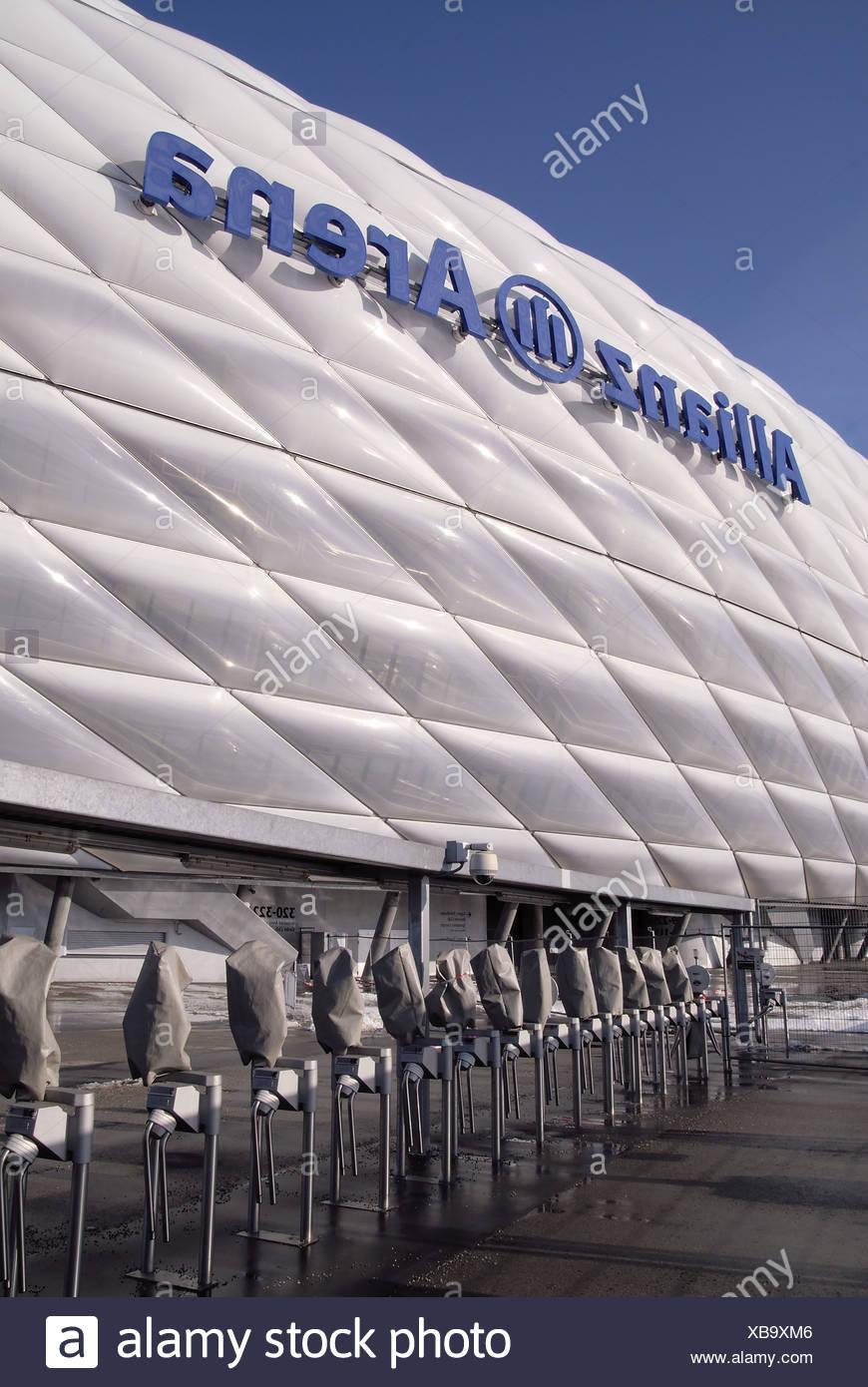 Deutschland Bayern München Allianz Arena Detail Anblick