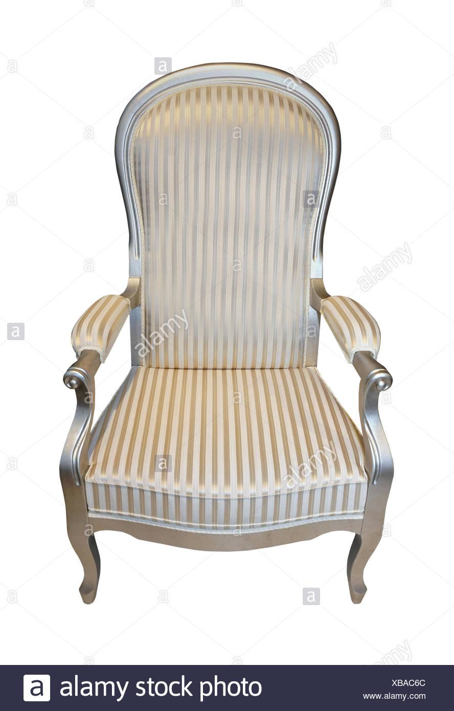 Sessel Isoliert Holz Antik Silber Vintage Sitz Retro Aus