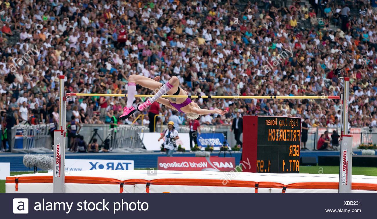 Deutsche Hochspringerin Ariane Friedrichs, ISTAF 2010, Internationale Stadionfest, Olympiastadion, Berlin Stockbild