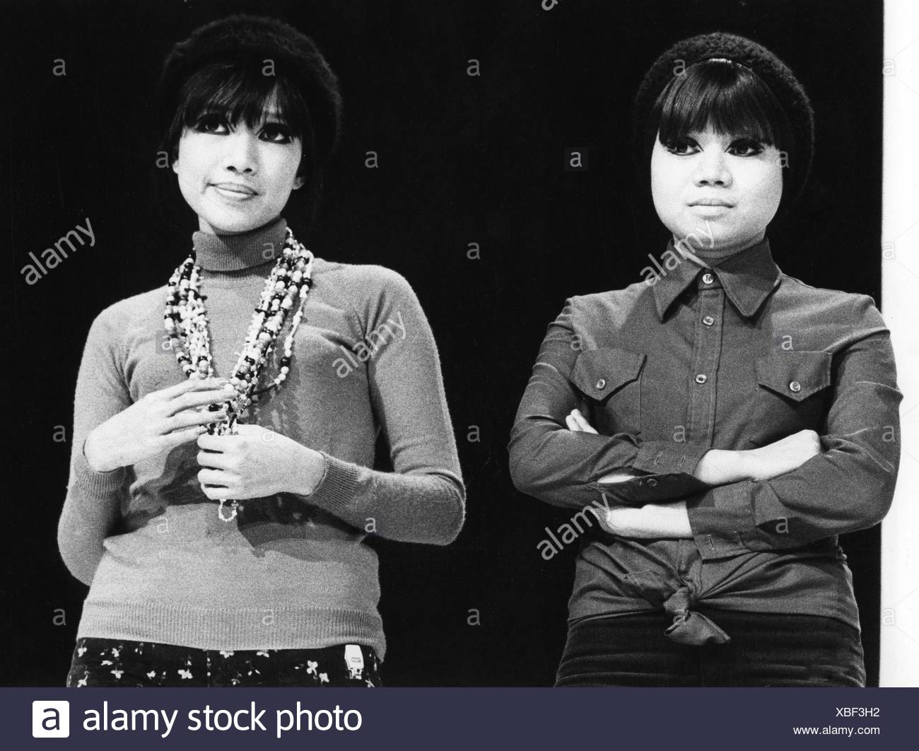 Les Humphries Singers, Popmusikband, zwei linke Sänger, 1972, Stockfoto