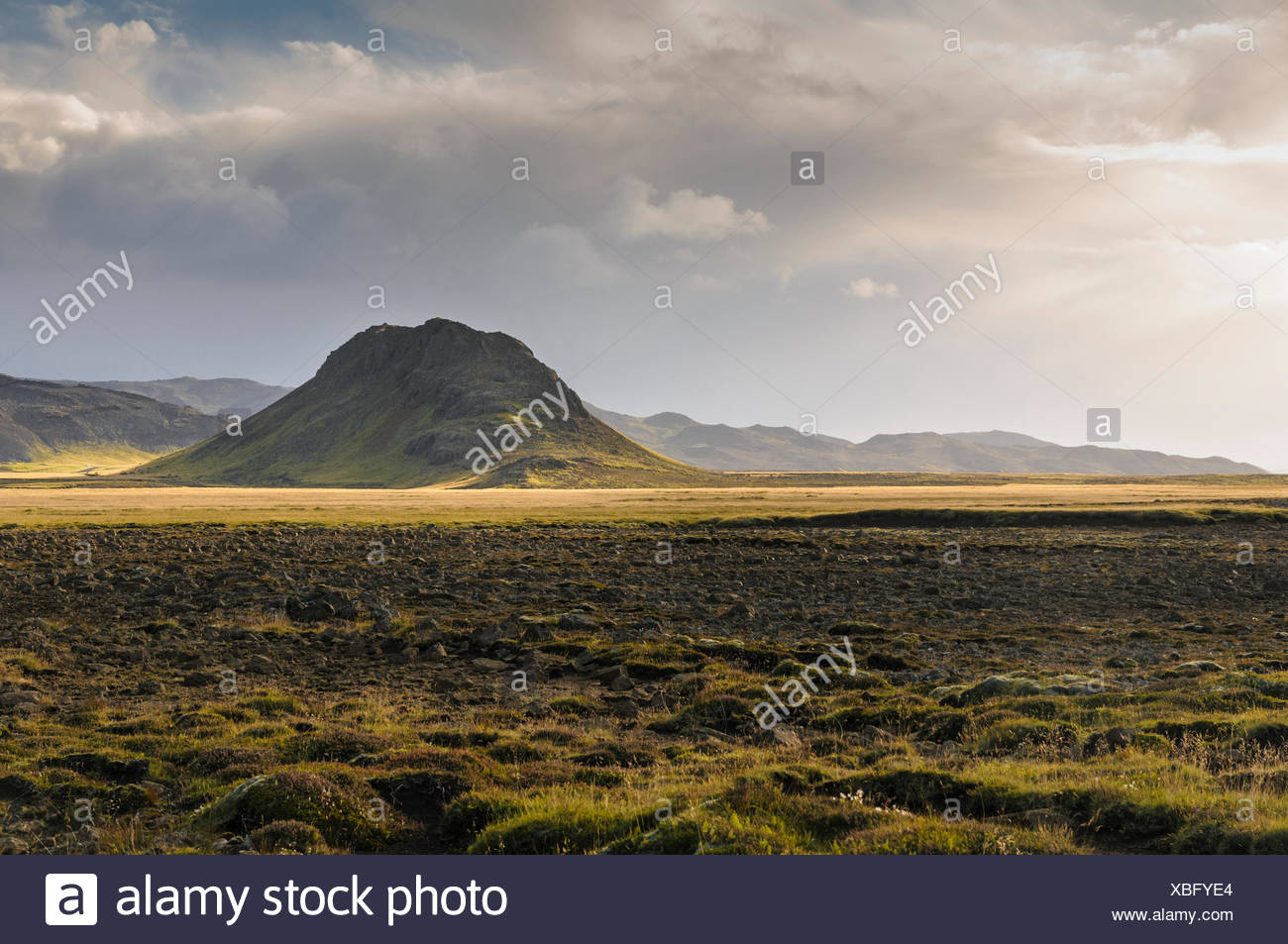 Einsamen Hügel in der Region von Krysuvik auf der Halbinsel Reykjanes im Südwesten Islands. Stockbild